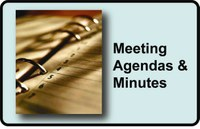 "image of a notebook with text ""meeting agendas & minutes"""