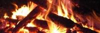 image of burning wood