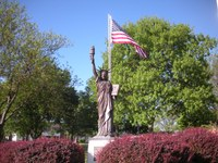 image of lady liberty replica