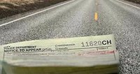 image of traffic ticket on road